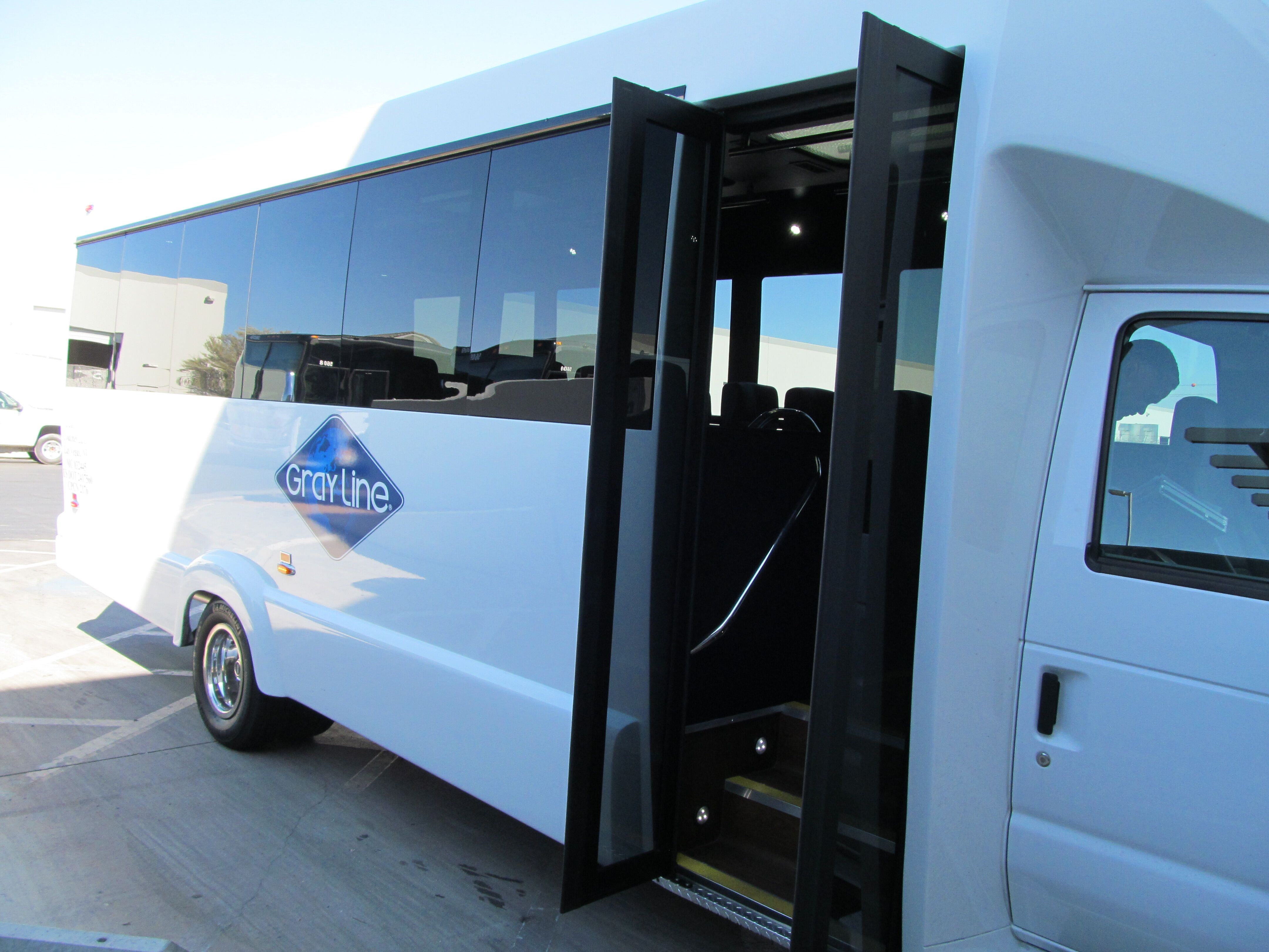 white bus 2 side